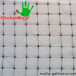 Malla plástica tipo gallinero de muestra