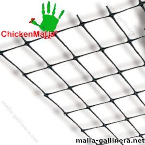 Muestra de rollo de malla gallinera