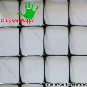 Muestra de malla de plástico tipo gallinero chickenmalla