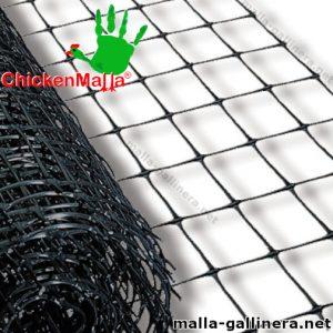 Rollo de malla gallinera plástica